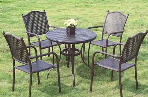 Bàn ghế sân vườn phong cách Pháp ZX M033H033