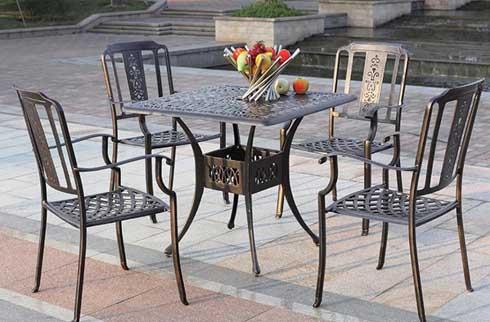 Bàn ghế ngoài trời kiểu dáng sang trọng ZX M090H025
