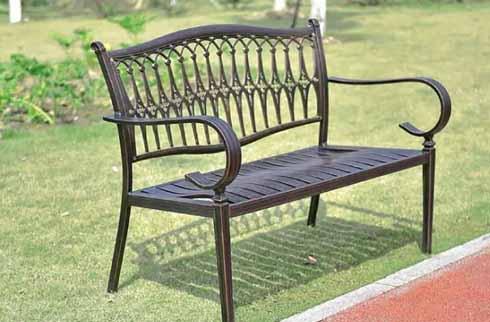 Ghế dài sân vườn hợp kim nhôm ZX H6009